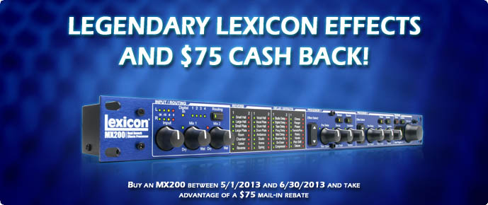 Lexicon MX200 Rebate
